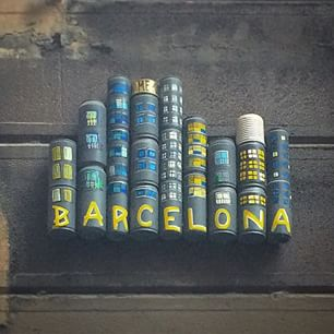 Arte en lata en Barcelona