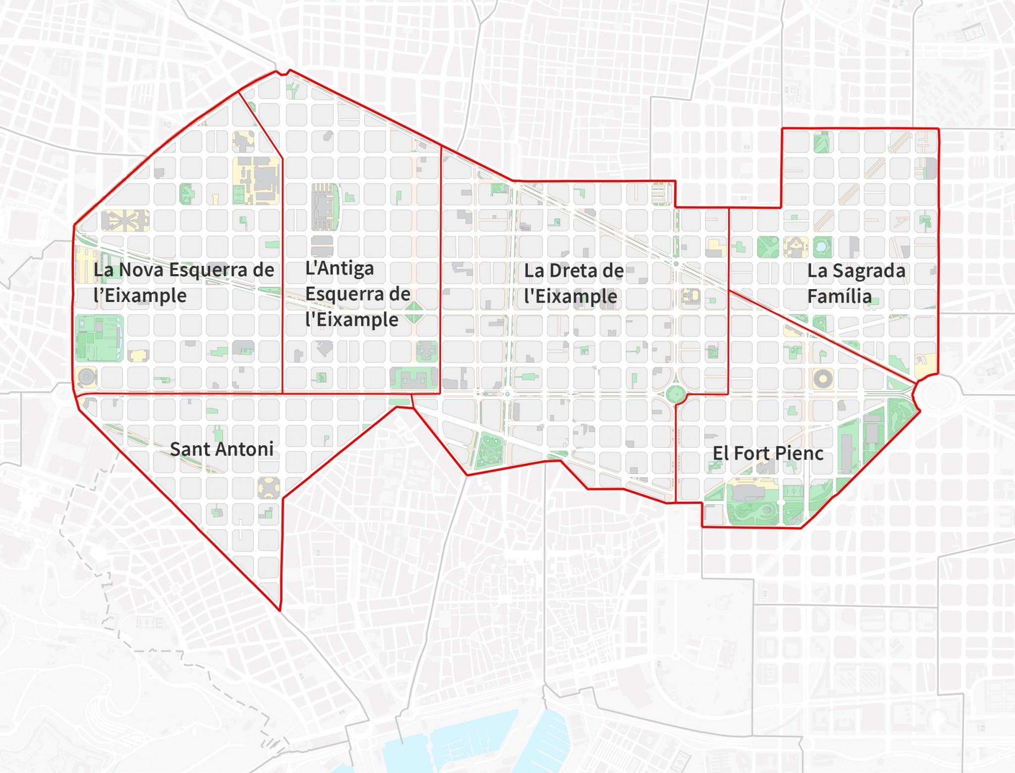 Eixample Dreta Barcelona Mapa.De Paseo Por El Eixample De Barcelona